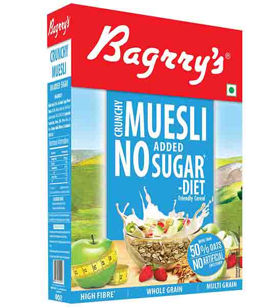 Bagrry's Muesli Diet 500 gm with No added sugar