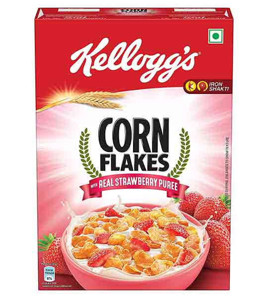 Kellogg's Corn flakes with strawberry 300 gm