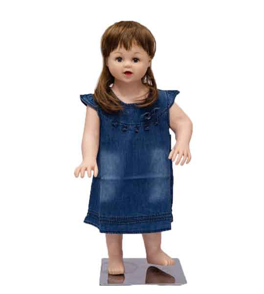 MOM NEEDS BABY GIRL JEANS FROCK IN BLUE