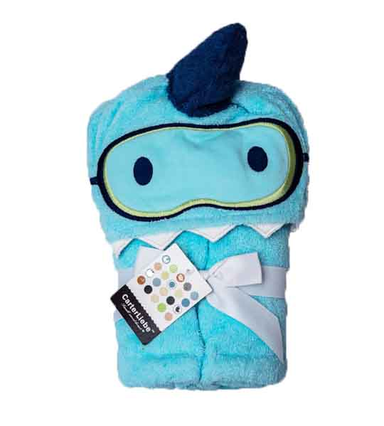 Mom Needs Baby Towel Hooded(Blue)