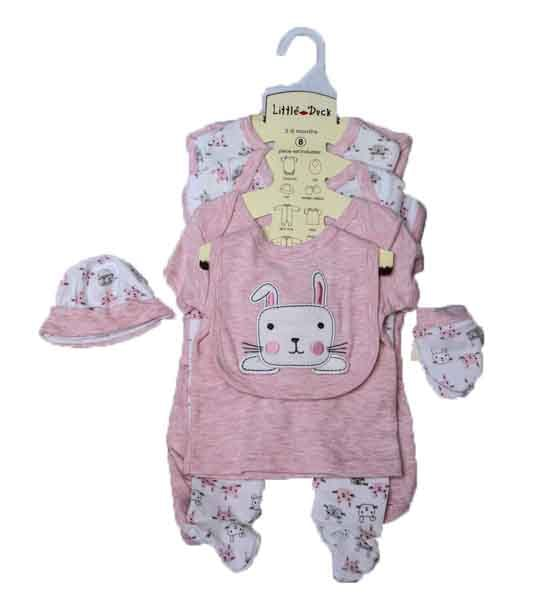 NB BABY CLOTHES-8PCS LP&W