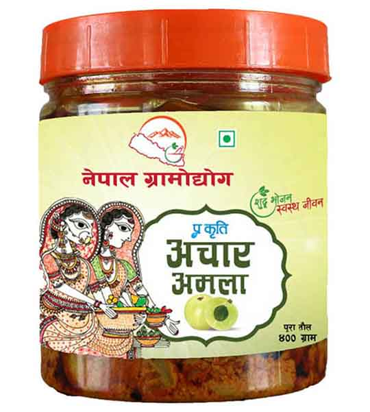 Nepal Gramodhyog Amla Pickle 400 gm