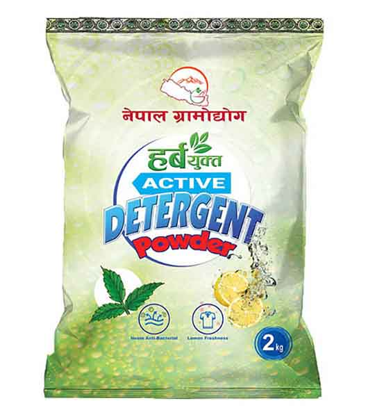 Nepal Gramodhyog Herbyukt Active Detergent powder with Neem anti-Bacterial and Lemon