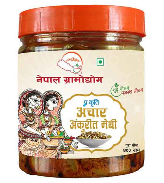 Nepal Gramodhyog Methi Pickle 400 gm