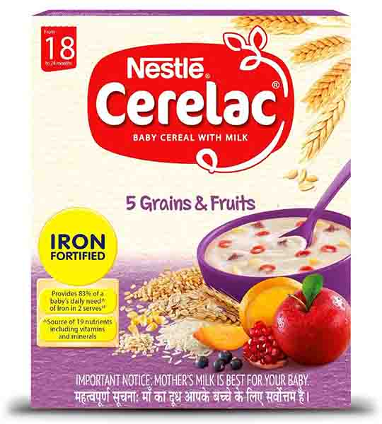 Nestle cerelac 5 multigrain and fruits