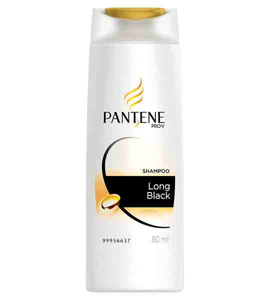 Pantene Long Black Shampoo 180 ml