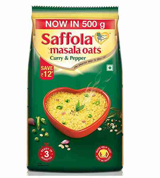 Saffola oats curry and pep 500gm