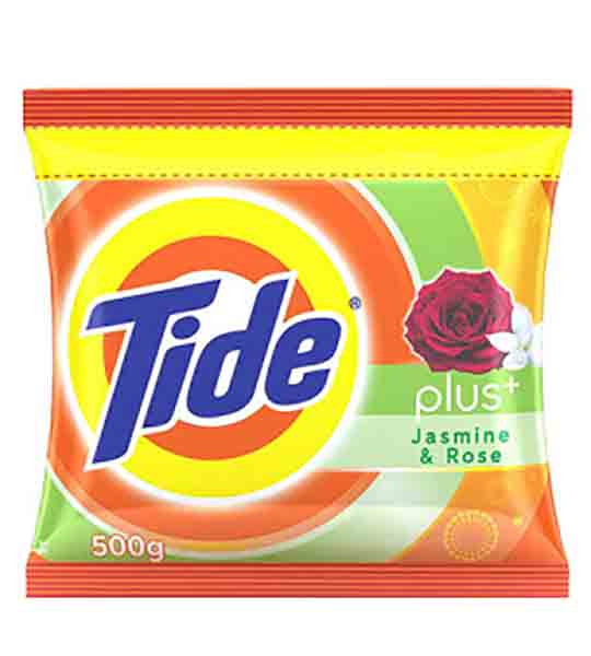 Tide detergent powder with jasmine and rose fragrance