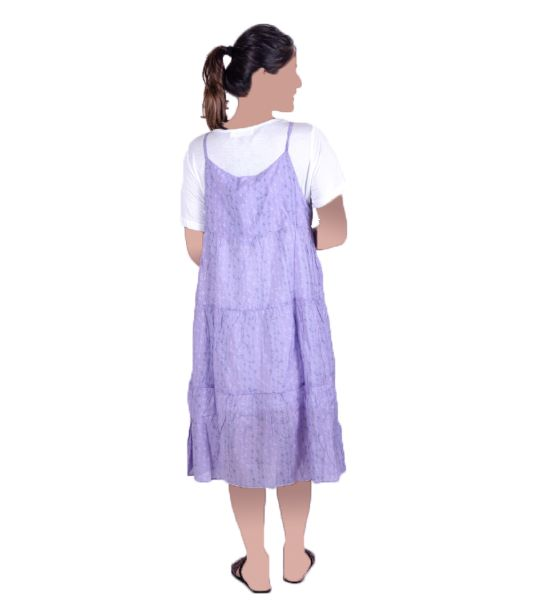 WOMAN GOWN WHITE & PURPLE(M,L&XL)