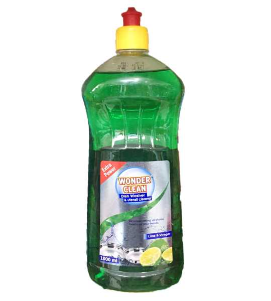 Wonder Clean Dishwasher & Untensil Cleaner Liquid , Remove tough stain , gentle on hand. Removing al