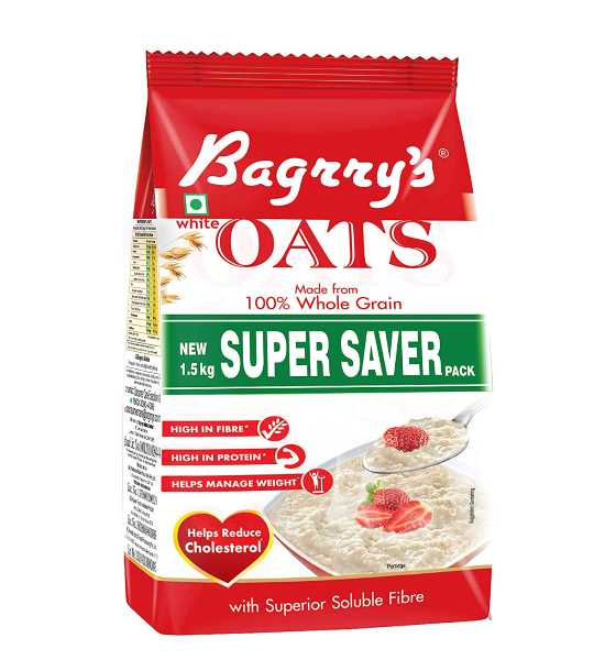 bagrrys white oats pouch  one and half kg