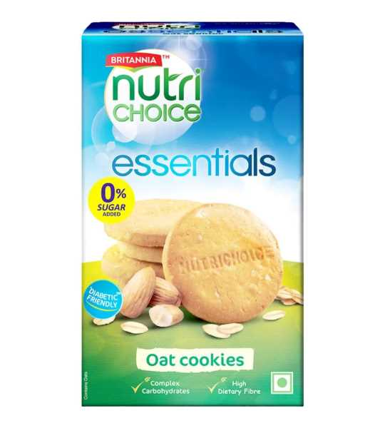 britannia nutri choice oats biscuits 150gm