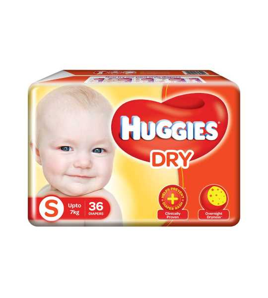huggies dry baby diaper small 10pcs