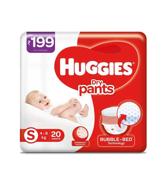 huggies dry baby diapers S 5 pants