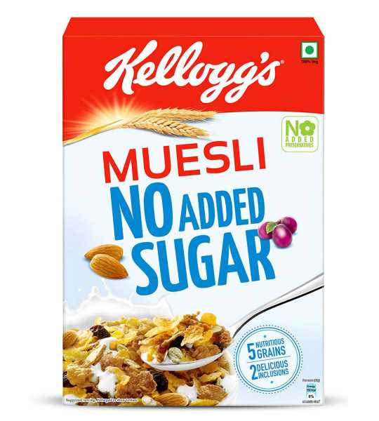 kellog's muelsi no added sugar 500gm