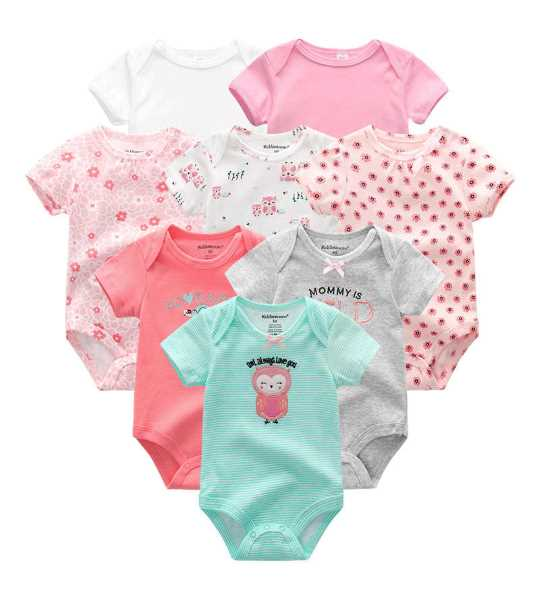nb baby clothes 8pcs neon