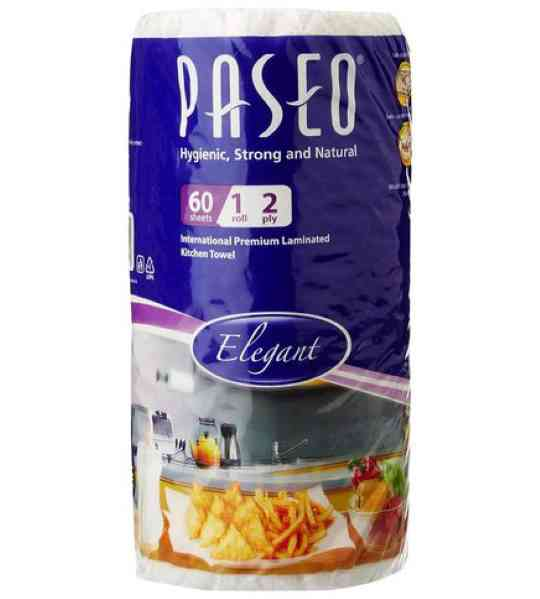 paseo tissues plain kitchen towels 1 roll 2 ply