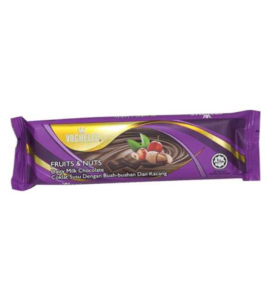 vochelle fruits and nuts chocolate 40gm