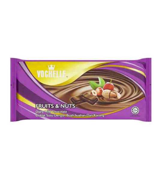 vochelle fruits and nuts chocolate 75gm