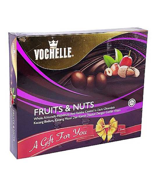 vochelle fruits and nuts dark chocolate box 180gm
