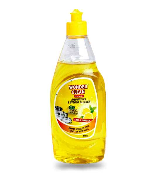 wonder clean dishwasher and utensil cleaner yellow 500ml